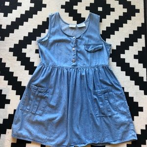 Vintage Chambray Dress • Size L